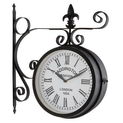 Large Outdoor Indoor Garden Wall Clock Vintage Battery Operated Weather Proof
