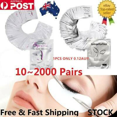 50~2000 PAIRS Under Eye Curve Eyelash Pads Gel Patch Lint Free Lash Extension