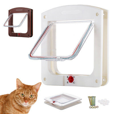"8.6'' x 7.8"" Pet Dog Cat Locking Flap Doors with 4 Way Lock for Pet Entry & Exit"