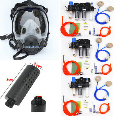 Chemical Supplied Air Fed Respirator System Paint Spray 6800 Full Face Gas Mask