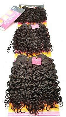 100% Human Hair Jerry Curl, Afro Kinky Curly Hair Weave Coily Sew in Weft 3 pcs