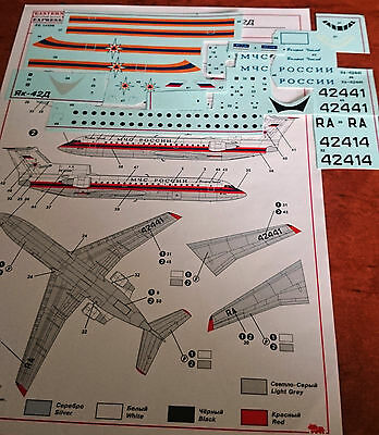 Yak 42 D Decals Civil aircraft in 1/144