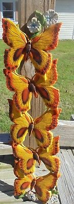 VTG Molded Plastic 3D Butterfly Wall Hanging Decor Universal Statuary Corp 1978