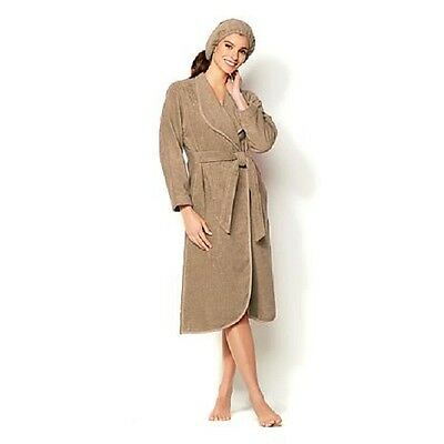 Joy Mangano True Perfections BATHROBE...Linen Driftwood..M/L size