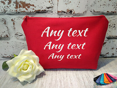 personalised accessories bag,makeup case, cosmetic pouch with any your text gift