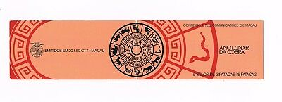 1989, Macau, New Year/Year of the Snake Booklet, 5x SG685, UM
