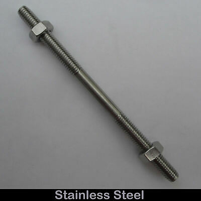 Stainless Steel M6 Threaded Stud Rod Link Left Hand/Right Hand Thread 100mm R6S