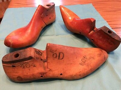 Antique wooden shoe lasts (assorted)