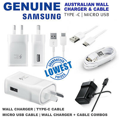 Genuine SAMSUNG ADAPTIVE FAST Charger AC Wall Adap For S7 S6 Edge Note 4 5 S9 S8