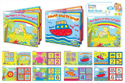 Pack of 2 Baby Bath Books Soft PVC Plastic Bath Time Educational Children Toys