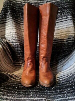 Womens VINTAGE 70s Dexter Brown Leather Campus Boots Size 8 M Made in USA