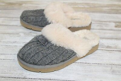 d6b497c124e UGG COZY KNIT Shearling Scuff Slippers, Women's - Size 5, Grey