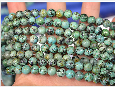 15.5'' 4mm 6mm 8mm 10mm 12mm Natural African Turquoise Gemstone Round Beads