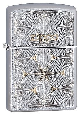 Zippo Windproof Lighter With Engraved Flowers & Zippo Logo,  29411 New In Box