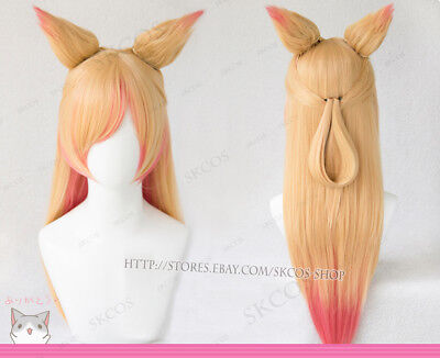 LOL LEAGUE OF Legends Ahri Cosplay costume Red Dress accessories