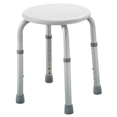 Shower/bath stool adjustable height lightweight aluminium seat chair - Ex Demo
