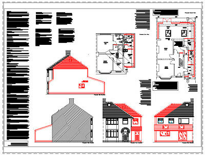 **sale** Two Storey Extension Cad Plans - 2019 Planning & Building Regulations