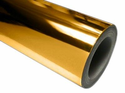 """24"""" x 10 ft Roll of GOLD(CHROME MIRROR) Repositionable Adhesive-Backed Vinyl for"""