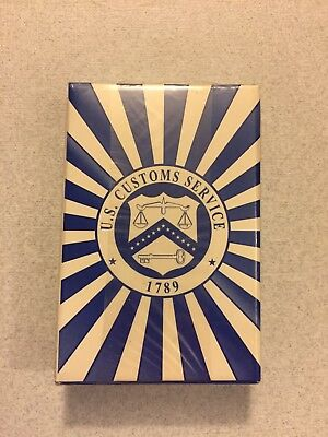 Rare Vintage 1990's 'U.S. Customs Service' Playing Cards, Sealed Deck, NIP