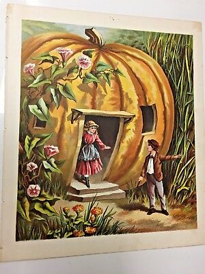 Print Of Pumpkin And Children