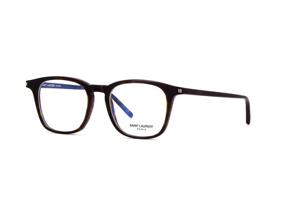 Saint Laurent  SL 147 002 Eyeglasses Dark Havana Brown Square Frame 49 mm