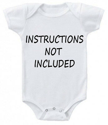 instructions not included Funny cute Baby Grow Suit Vest gift present z1