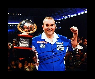 SALE PHIL TAYLOR THE POWER DARTS HAND SIGNED PHOTO AUTHENTIC GENUINE + COA 10x8