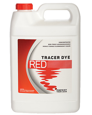 Concentrated Red Tracer Dye - One Gallon (128 ounces)
