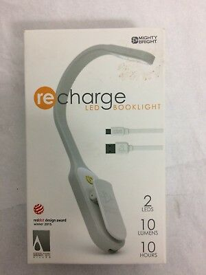 47017 recharge book light, white