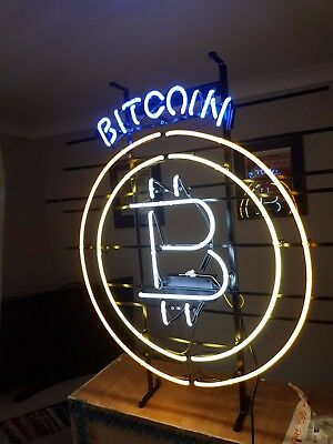 Bitcoin BTC  Bitcoin Neon Light Large Bitcoin Light Great unique item
