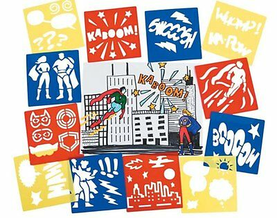 12 Superhero Stencils for Kids Parties and Crafts