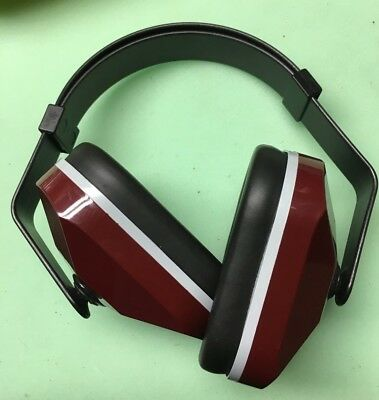 NEW 3M 330-3001 EARMUFF EAR MUFF 20/22dB MULTI-POSITION BLACK/MAROON MODEL 1000