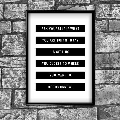 Ask Yourself Goals Motivational Inspirational Love Postive Quote Poster Wall