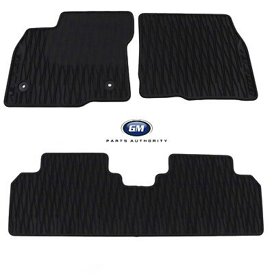 2017-2018 Chevrolet Bolt EV Rubber Floor Mats 42333257 Black Front & Rear OEM GM