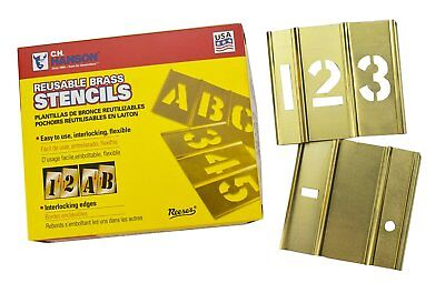 CH Hanson 6 in Brass Number 15 Piece Interlocking Stencil Set