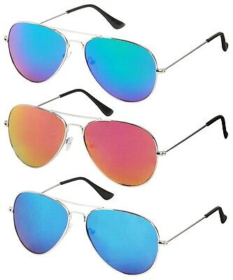 Retro Classic Aviator Sunglasses Metal Frame Revolution Lens for Men Women UV400