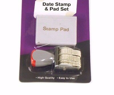 2016 - 2027 Rubber Manual Set Date Stamp & Black Ink Pad Business Office