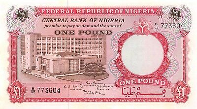 Nigeria 1 Pound ND 1967, P.8 Banknote Uncirculated Unc