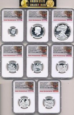 2017 S Proof Limited Edition Set Ngc Pf70 Uc Er Complete 8 Coin Set +Ogp ! Wow