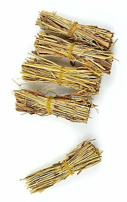 Touch of Nature 5-Piece Mini Fairy Garden Straw Bundles, 0.8 by 3-Inch, Natural