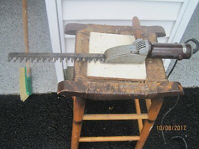 Vintage Sunbeam Electric Hedge Trimmer Model  A-1-A Lawn Equipment Tested Works