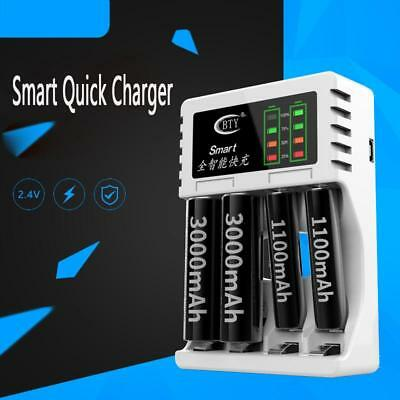 LED 4 Slot Battery Charger For AA / AAA Ni-MH / Ni-Cd Rechargeable Batteries OF