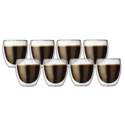 NEW Bodum Pavina Double-Walled Glasses Pay for 6 Get 8 Pack