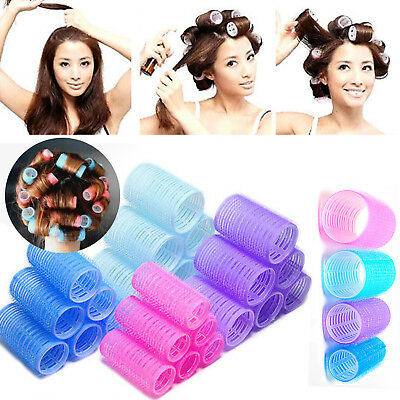New 6pcs Large Hair Salon Rollers Curlers Tools Hairdressing tool Soft DIY HG