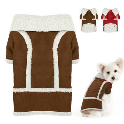 Winter Suede Dog Coat Chihuahua Clothes Fleece Padded Pet Puppy Jacket Apparel