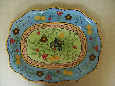 "New Vintage Sedona Square Platter 14 1/2"" Long Handcrafted By Over And Back"