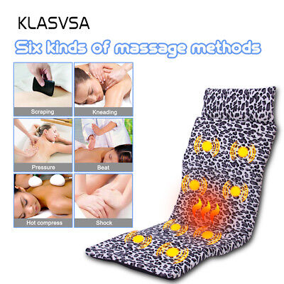 KLASVSA Massage Mattress Full Body Heating Vibrating Cushion Massager Mat