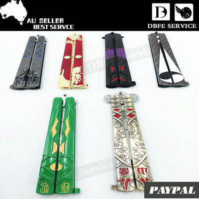 Folding Butterfly Knife Training knife Dull Blade Practice Trainer tool AU