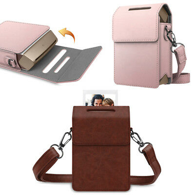 For Fujifilm Instax SHARE SP-2 Smart Phone Printer Leather Case Cover w/ Strap