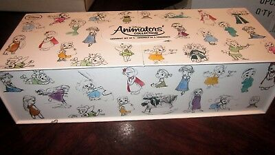 ANIMATOR'S PRINCESS Disney Exclusive Christmas SKETCHBOOK Ornament Set of 5~2016